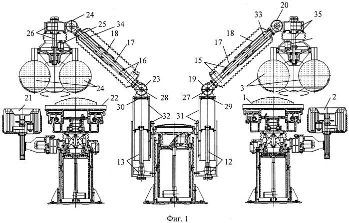 Устройство напольного варианта двойной сферической диагностико-хирургической и реанимационной робототехнической системы с возможностью информационно-компьютерного управления ю.и. русанова