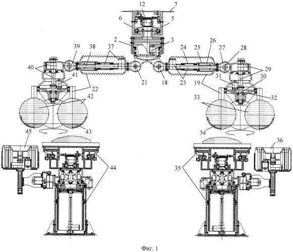 Устройство потолочного варианта двойной сферической диагностико-хирургической и реанимационной робототехнической системы с возможностью информационно-компьютерного управления ю.и. русанова