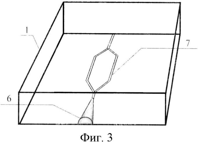 Способ изготовления интегрально-оптической схемы в стеклянной подложке с рупорообразным волноводом