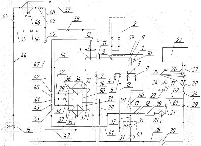 Масляная система охлаждения главного редуктора вертолета при испытании