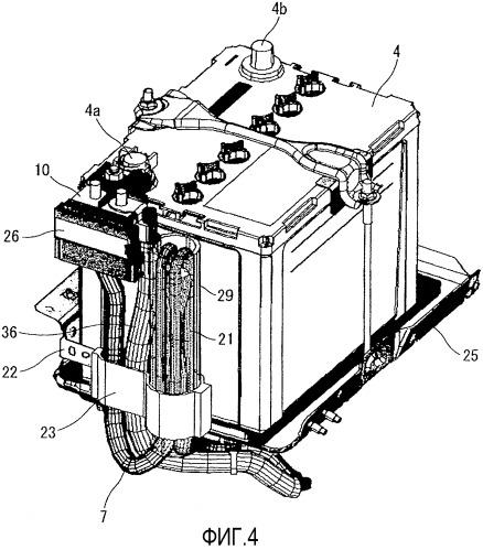 Устройство запуска двигателя для транспортного средства с функцией глушения двигателя на холостом ходу