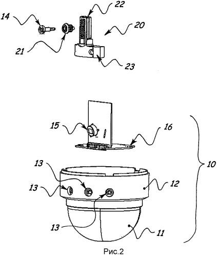 Внутренний маскировочный механизм для блока датчика движения