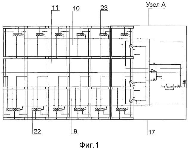 Пневмосистема для судна с воздушными кавернами на днище