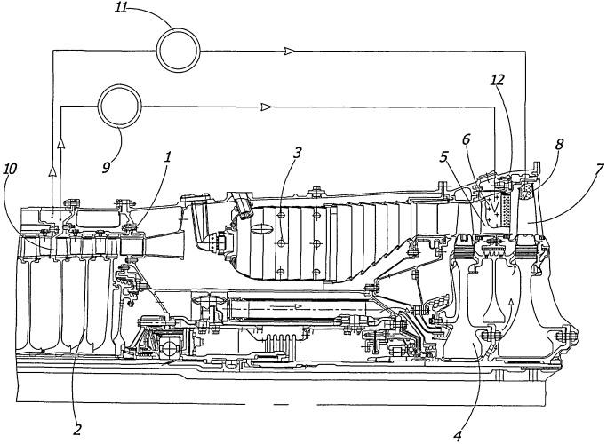 Высокотемпературный газотурбинный двигатель
