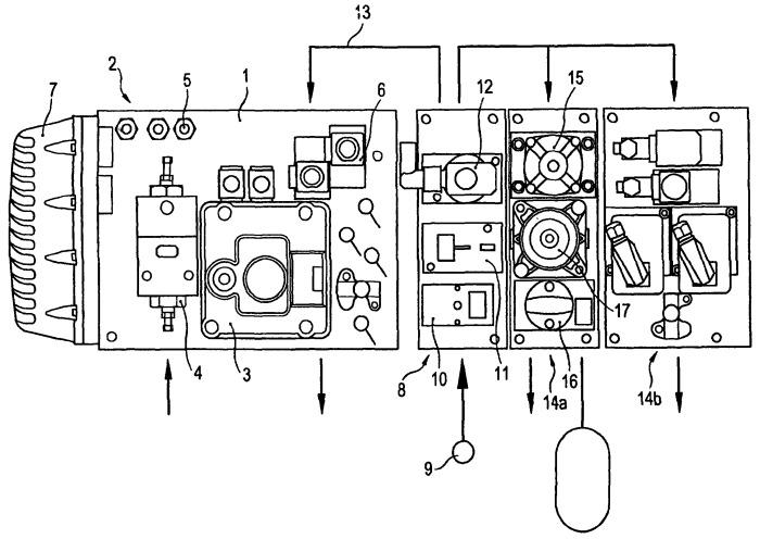 Компоновка тормозных и дополнительных аппаратов для тормозного устройства с пневматическим приводом транспортного средства