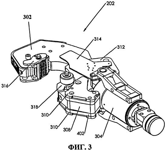 Автоматически регулируемая приводная челюсть трубного ключа