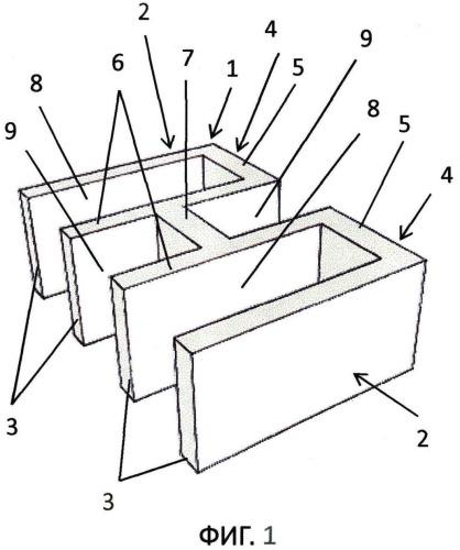 Строительный блок и способ возведения ложковой кладки из этого строительного блока