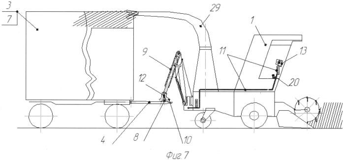 Способ транспортного обслуживания самоходных зерновых и кормоуборочных комбайнов системой мобильных средств, преимущественно авто(тракторными) поездами