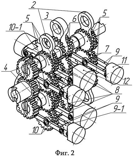 Бесшатунный кривошипный механизм двигателя