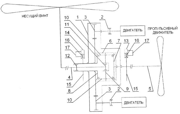 Регулируемая трансмиссия винтокрылого летательного аппарата