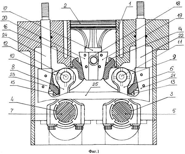 Двигатель внутреннего сгорания с изменяемой степенью сжатия