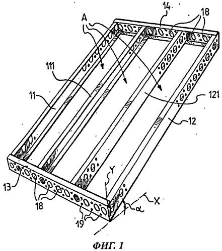 Конструкция формы для изготовления лестниц и лестничных площадок, способ изготовления такой конструкции и способ ее использования