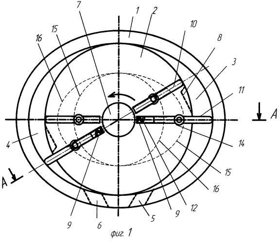 Роторно-пластинчатый механизм двигателя внутреннего сгорания с увеличенной полостью всасывания-сжатия