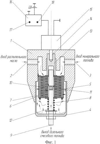 Фильтр-смеситель двухкомпонентного топлива