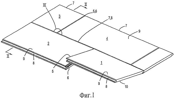 Блок напольных панелей