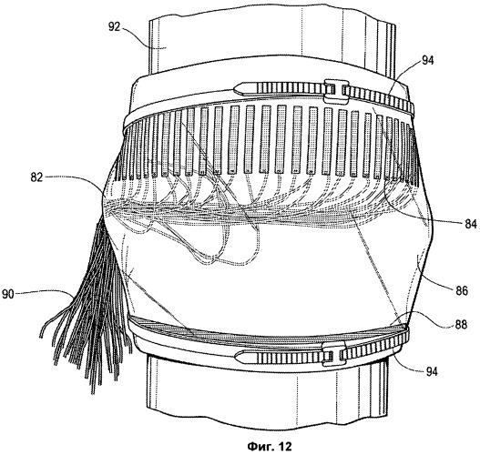 Постоянно установленная линейная решетка ультразвуковых датчиков с сухими контактами