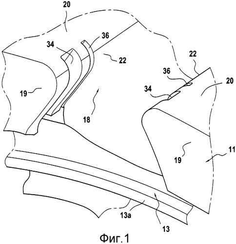Ротор вентилятора турбореактивного двигателя самолета