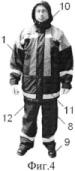 Одежда спасателей, действующих в условиях рентгеновского излучения и низких температур