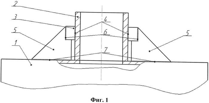 Конструкция узла штуцер-корпус сосуда давления