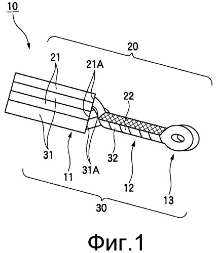Структура для соединения и способ соединения изолированных проводов