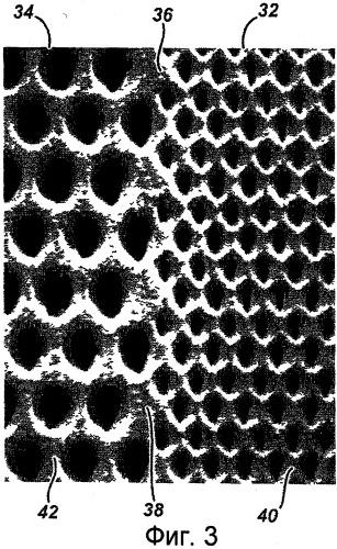 Полотно с отверстиями, имеющее множество зон