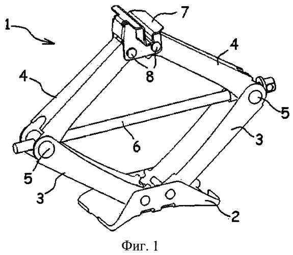 Опорный элемент для домкрата, имеющий изогнутые части