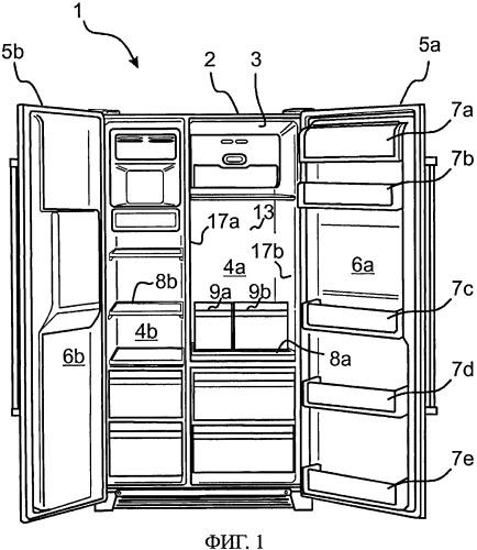 Холодильный аппарат с линейно перемещаемой выдвижной полкой, в частности стеклянной полкой, и удерживающим устройством, по меньшей мере, для одного контейнера