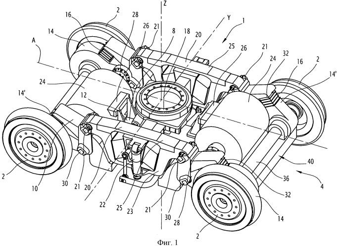 Ведущая колесная тележка рельсового транспортного средства, содержащая полуподвешенный двигатель