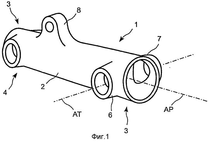 Способ изготовления рычага из композиционного материала, содержащего поперечный опорный подшипник, предназначенный для установки в нем неподвижной или вращающейся оси