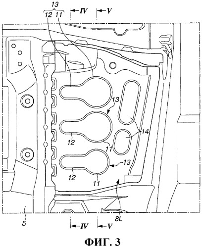 Конструкция для упрочнения панели кузова автомобиля