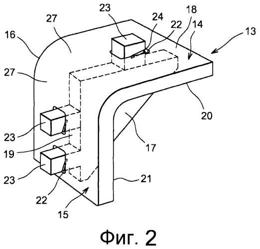 Угловой держатель оборудования для самолетостроения