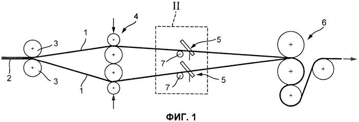 Способ одновременного удаления грата с нескольких ниток катанки