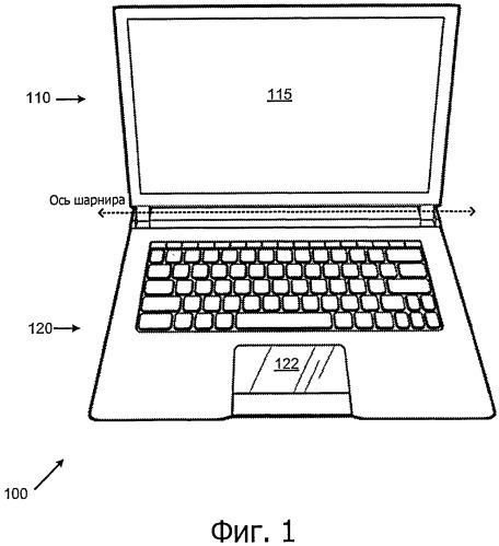 Дисплей с возможностью доступа в устройстве с закрытой крышкой