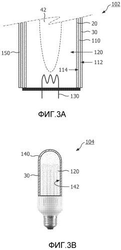 Люминесцентный преобразователь для усиленного люминофором источника света, содержащий органические и неорганические люминофоры