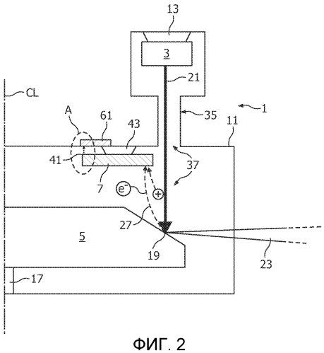 Рентгеновская трубка с пассивным ионособирающим электродом