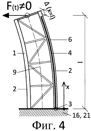 Несущая конструкция с увеличенным демпфированием за счет конструкции