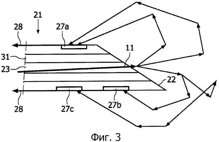 Оптическое исследовательское устройство, выполненное с возможностью, по меньшей мере, частичного помещения в мутную среду