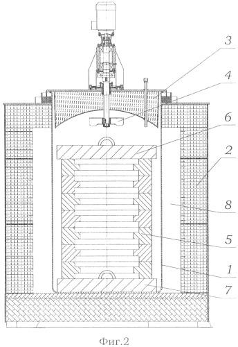 Способ преодоления деформации колец при химико-термической обработке и устройство шахтной печи для его осуществления