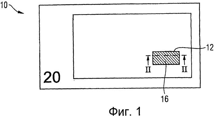 Защитный элемент, содержащий структурированную область с переменными оптическими свойствами