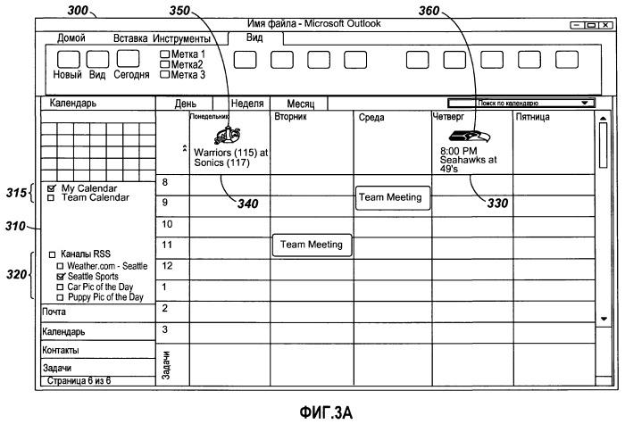 Визуализация подписок rss на календаре