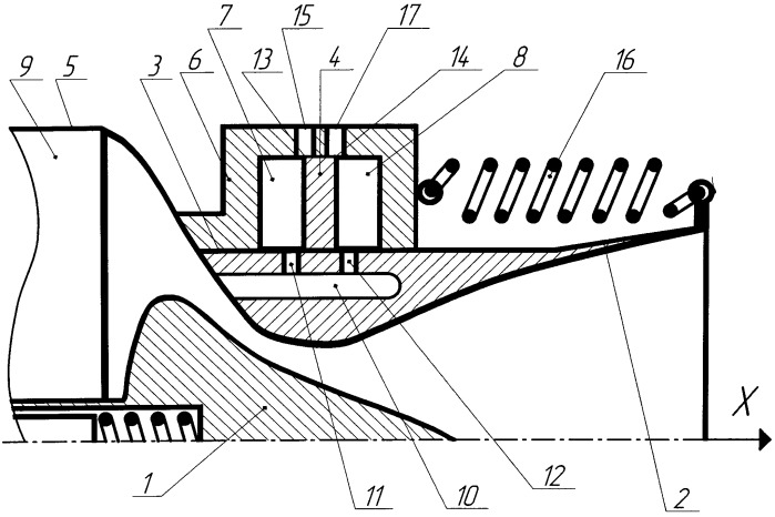 Сопловой блок ракетного двигателя твердого топлива