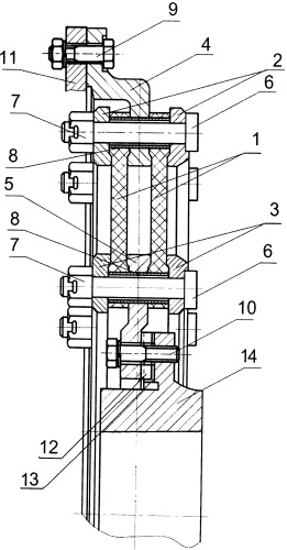 Компенсационная муфта тягового привода локомотива