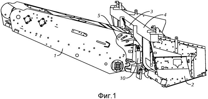 Уборочный комбайн с автоматическим гидравлическим и электрическим соединением жатки