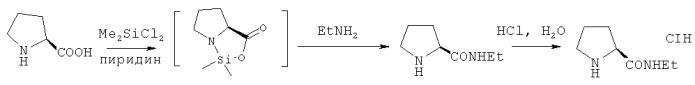 Способ получения гидрохлорида этиламида l-пролина