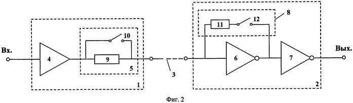 Энергоэффективные передатчик и приемник сигналов в проводной линии связи с устройством переключения режимов