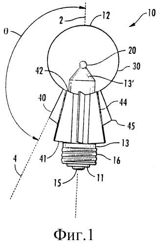 Осветительное устройство с обратноконусным теплоотводом
