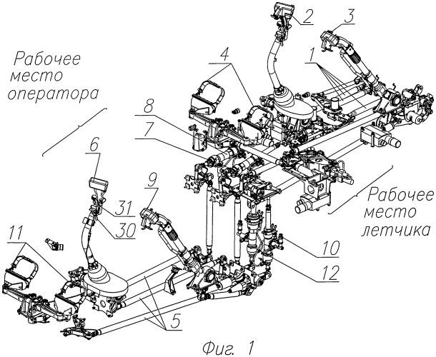 Система управления вертолетом и раздвижная тяга проводки системы управления