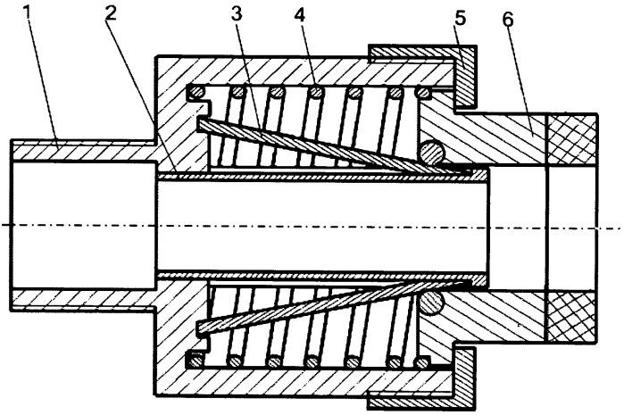 Демпфер откатных частей артиллерийского орудия