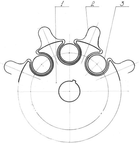 Колесо со сменным протектором-бесконечной гусеницей