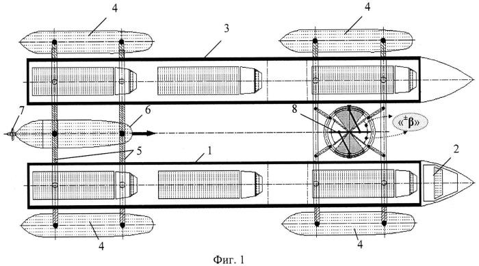 Способ формирования надводного транспорта для перевозки грузов (вариант русской логики - версия 2)